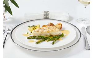 Pacific Halibut, plated
