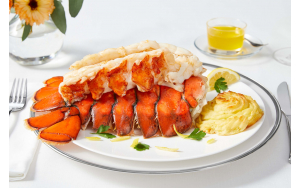 Colossal Lobster Tails, plated
