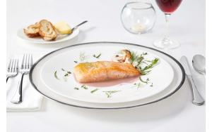 King Salmon, plated