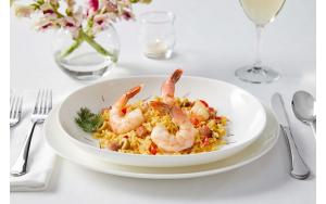 Colossal Shrimp, plated